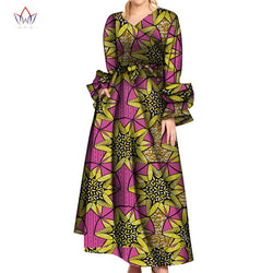 Long Sleeve Dresses for Women Party Wedding Casual Date Dashiki African V Neck Women Dresses African Dresses for Women WY5828