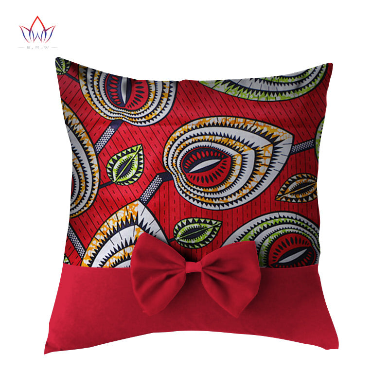 Lovely Bowtie Pillow Case New High Quality Wax Print Cotton Pillow Best Decorate Pillow Cases