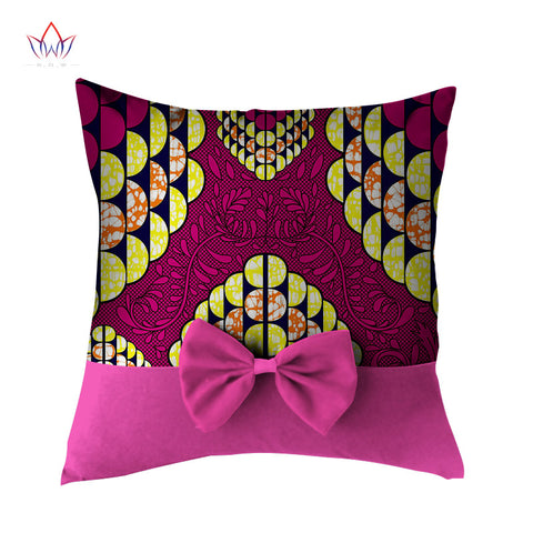 Lovely Bowtie Pillow Case New High Quality Wax Print Cotton Pillow Case Decorative Cute Pillows Decorate Home Pillowcase WYS51