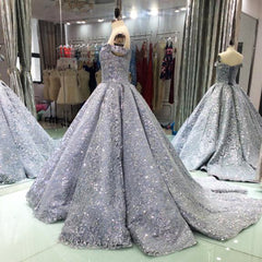 ... Luxury Glitter Sequins Evening Dresses Long 2018 Ball Gown Sparkly  Saudi Arabic Women Formal Evening Prom 38db15fe6412