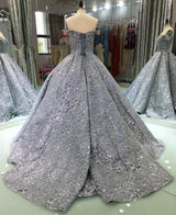 Luxury Glitter Sequins Evening Dresses Long 2018 Ball Gown Sparkly Saudi Arabic Women Formal Evening Prom Gowns Vestido De Festa