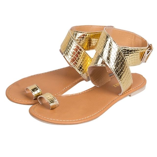 8dc63d894 ... MORBARRZ Summer Cross Belt Rome Sandals Women 2018 Fashion Strappy  Gladiator Low Flat Shoes Open Toe ...