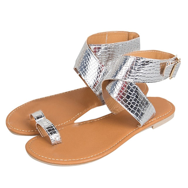 ec71bcf79 ... MORBARRZ Summer Cross Belt Rome Sandals Women 2018 Fashion Strappy  Gladiator Low Flat Shoes Open Toe