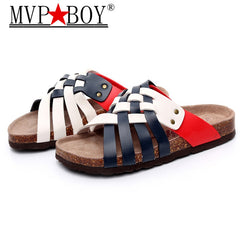 MVP BOY Size 39-45 Roman style summer cool style man sandals cork shoes  summer ... 1d54e6860cbe