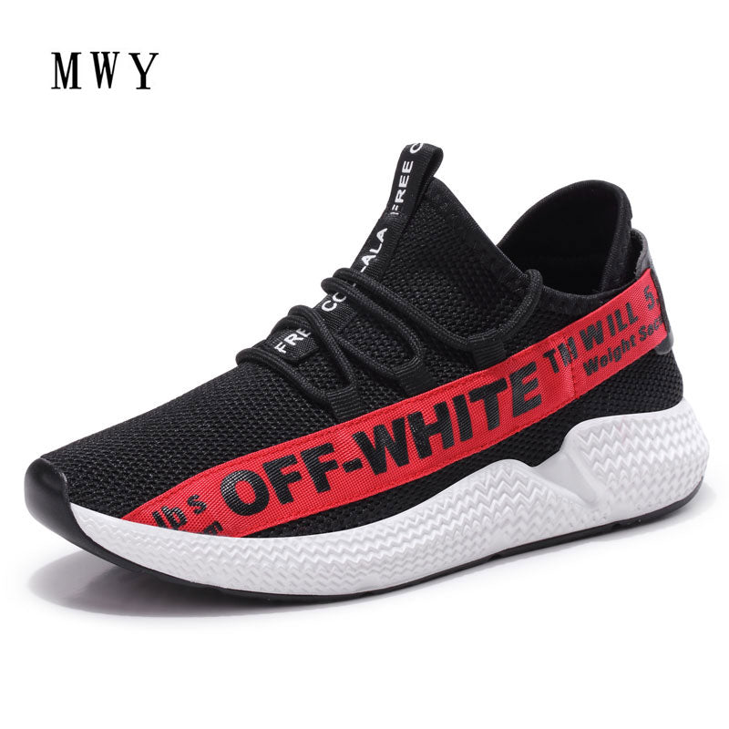 ... MWY Black Sneakers Women Summer Casual Shoes Flat Air Mesh Vulcanize  Female Platform Shoes Woman Trainers ...