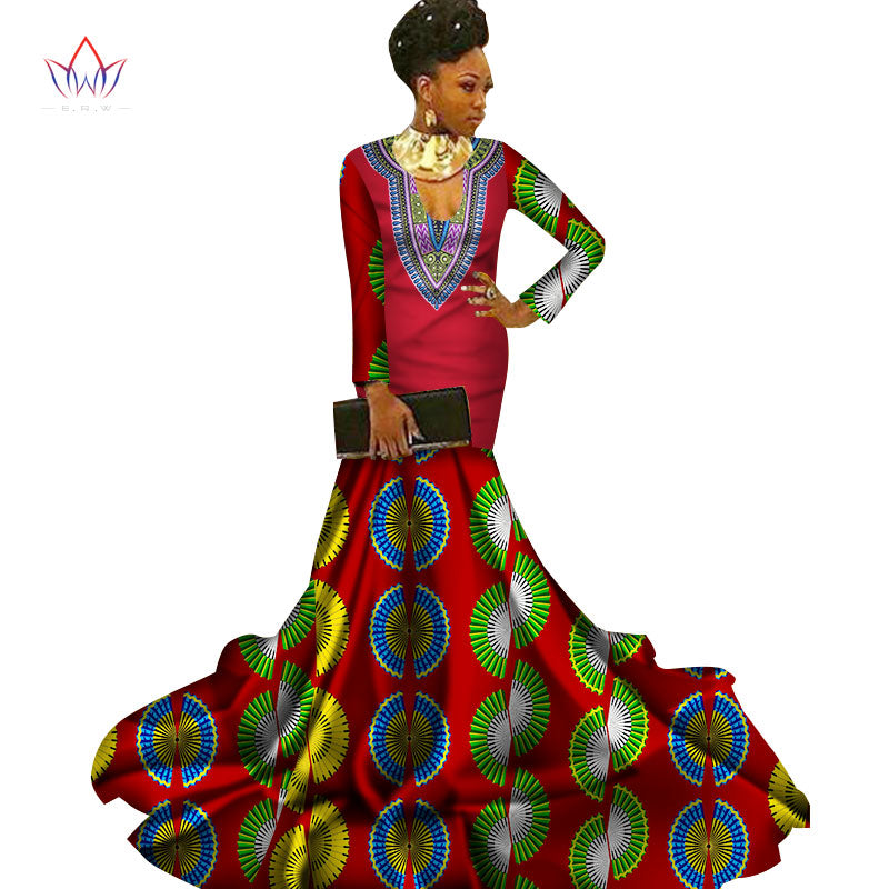 2249a8931253c Mermaid African Dresses New Arrival Long Sleeve Floor Length Women Formal  Occasion Dress Africa Evening Gowns for Women WY2960 1