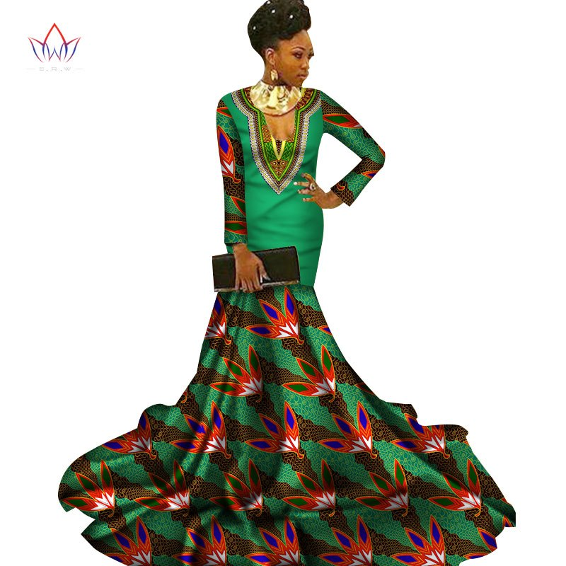 4e5b81cd26ee ... Long Sleeve Floor Length Women Formal Occasion Dress Africa Evening  Gowns. Hover to zoom