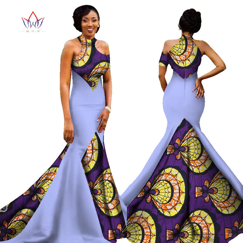 a0f7c6c9af Hover to zoom · Mermaid African Dresses New Arrival Sleeveless Floor Length  Women Formal Occasion Dress Africa Evening Gowns for