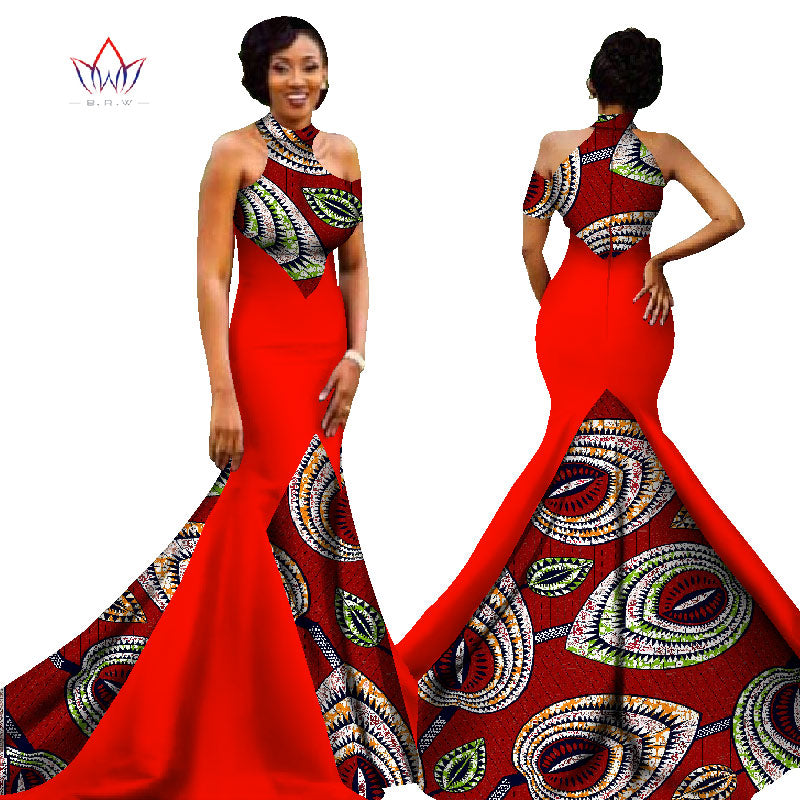 Mermaid African Dresses New Arrival Sleeveless Floor Length Women ...