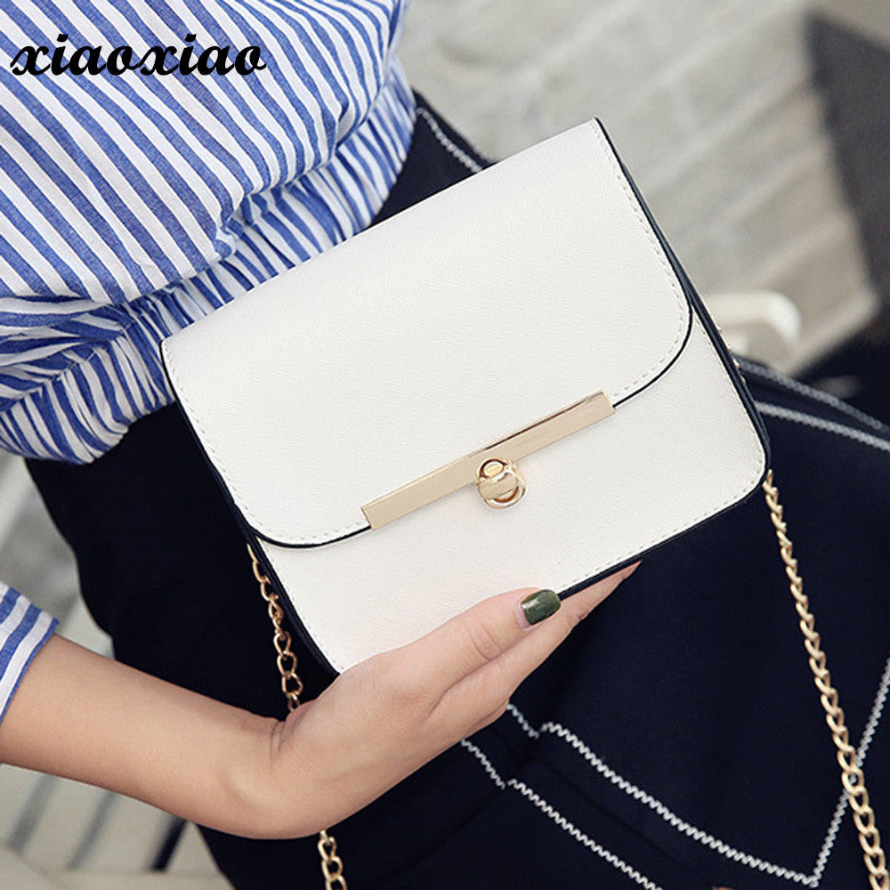 fd98ac9c0adb Mini Casual Small Messenger Bags New Women Handbag with Mortise Lock Clutch  Ladies Party Purse Famous. Hover to zoom