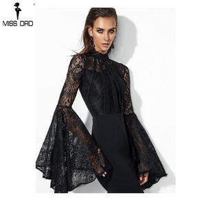 52d7e539489a Missord 2018 Sexy Elegant Lace Long Sleeve See Through Bandage Dresses  Females Bodycon Maxi Party Dress