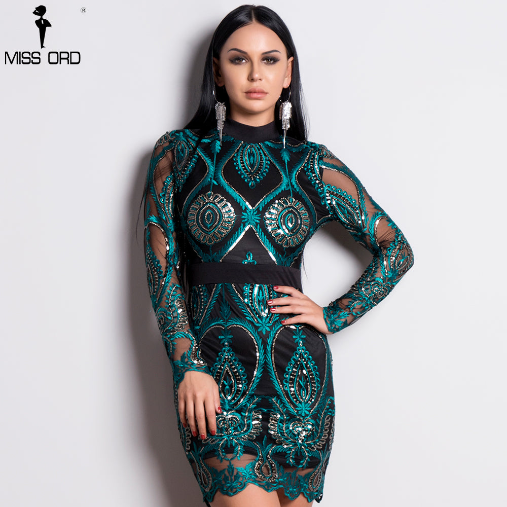 a99d9c4b6a47 Missord 2018 Sexy Women Long Sleeve Sequin Backless Dresses Women Hollow  Out Maxi Party Elegant Bodycon. Hover to zoom