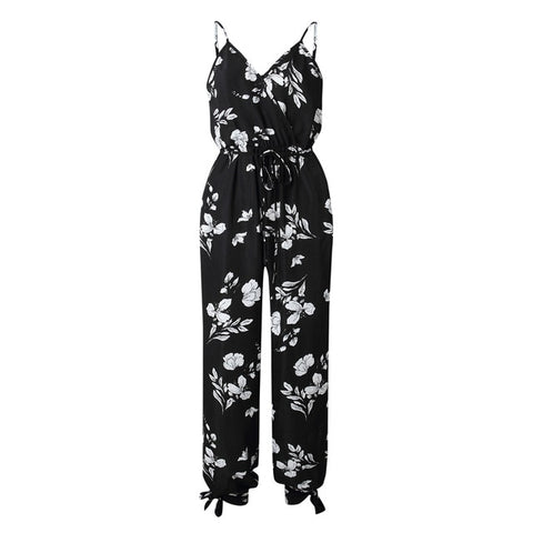 cb7ebdd2ee1d8 Missufe Sexy Leopard Print Off Shoulder Jumpsuit Halter Split Loose Long  Playsuit Bandage Rompers Club Party Overalls For Women