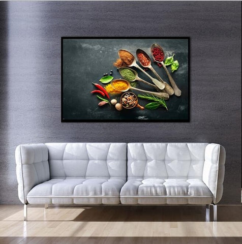 Modern Posters and Prints on Canvas Wall Art Canvas Painting Cooking Supplies Pictures for Kitchen Room Wall Nordic Decoration
