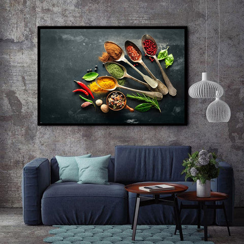 Image of Modern Posters and Prints on Canvas Wall Art Canvas Painting Cooking Supplies Pictures for Kitchen Room Wall Nordic Decoration