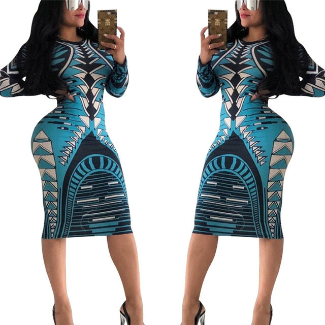 20b3def8f5 ... Bodycon Dress Women O Neck Long Sleeve Knee-length Casual Dress. Hover  to zoom