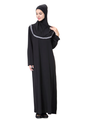 3bb6015db4a3 ... Muslim Dress Black women Abaya robe Clothes Long Sleeves Turkish ladies  Arab Abaya Caftan Kaftan Malaysia