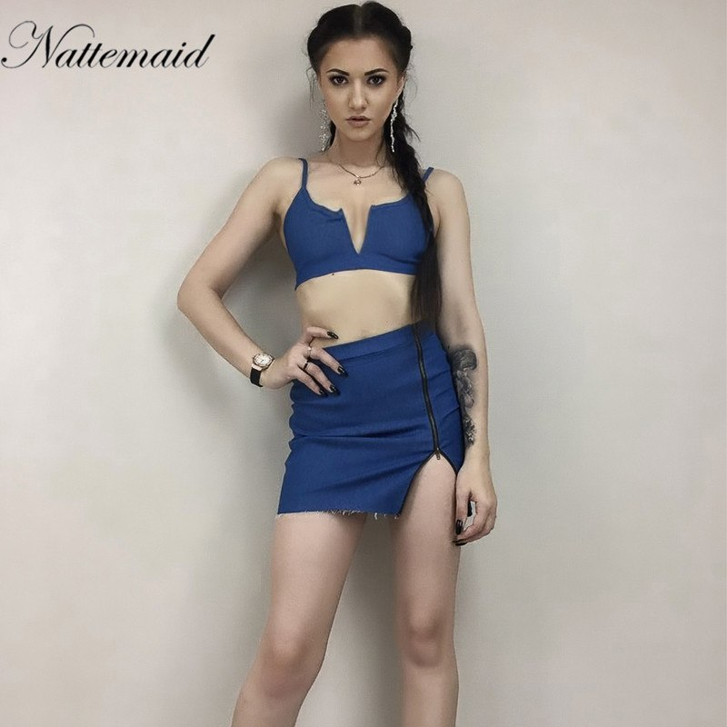 366e91b050 NATTEMAID Sexy backless denim dress shirt Women vintage bodycon summer  dress Beach party short dresses Casual. Hover to zoom