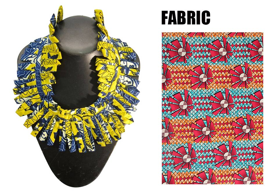 new african print necklace ankara print necklace african ethnic