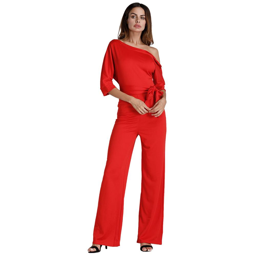 6470e7dabf ... NIBESSER Jumpsuits Romper Women Overall Sexy One Shoulder bodycon tunic  Jumpsuit for party elegant Wide Leg ...
