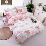 Naturelife Animal Plaid Bedding Set Soft Sanding Duvet Cover Set Bedsheet Pillowcase 3/4pcs funda nordica bed linen de couette