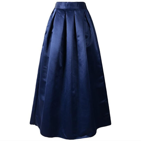 Neophil 100cm Black Basic Muslim Women Maxi Long Pleated Skirts High Waist 2019 Ladies Ball Gown Skater Flare Saia Longa MS08025
