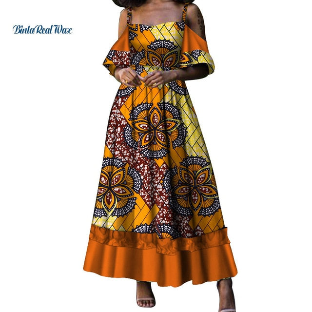 5925c0809ab2 New African Dresses for Women Bazin Riche 100% Cotton Wax Print ...
