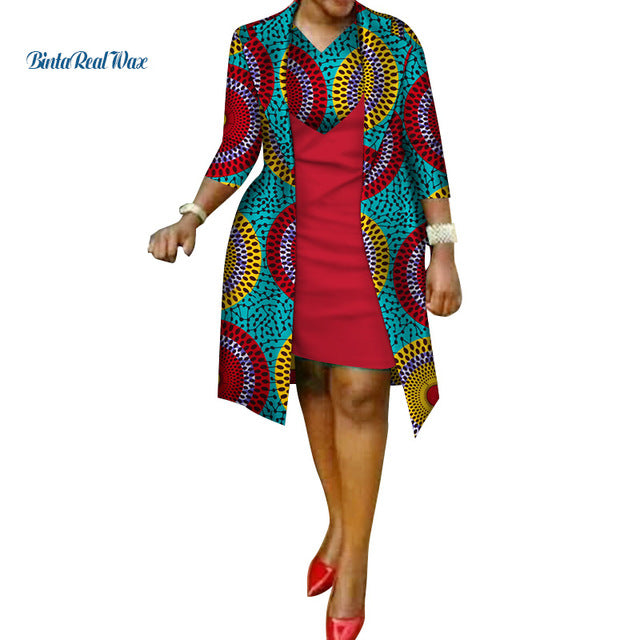 d594cefc1d7c New African Print Dress and Suit Coat for Women Bazin Riche 100 ...