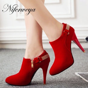 6730567df0 New Big size 31-50 sexy Pointed Toe Thin Heel high heels spring/autumn ...