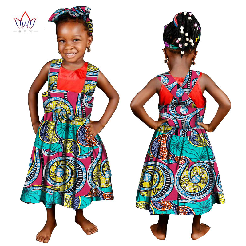 616c15caa0d ... New Child Clothes African Wax Print Dresses for Baby Girls Bazin Riche  Plus Size Traditional African ...