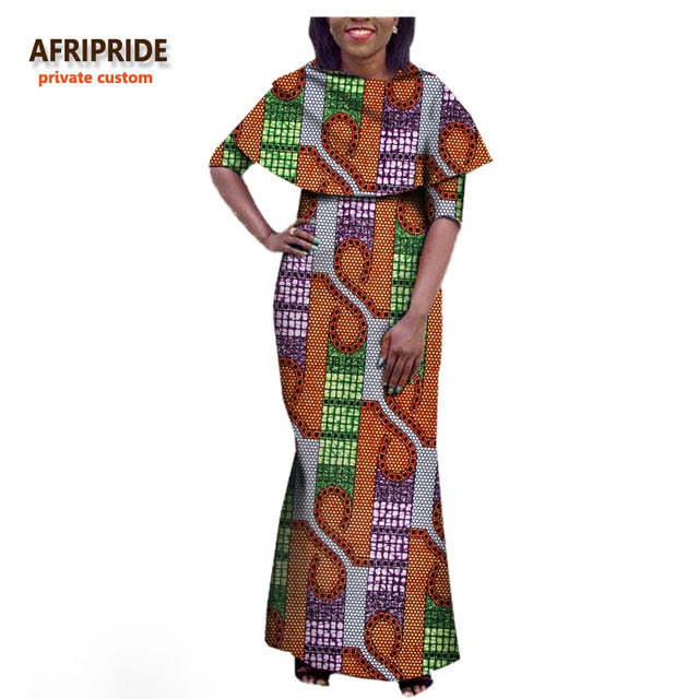 New Fall african women dress AFRIPRIDE private custom half sleeve ...