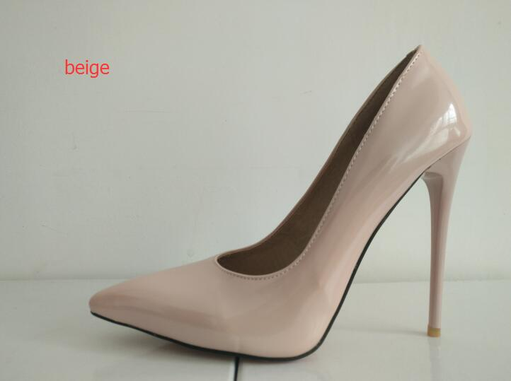 7dd6045d2 ... sole Pearl paint leather Women shoes 12 cm Sexy High heels Black Pink.  Hover to zoom