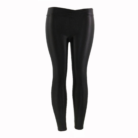 12c6a8957 ... Image of New Fashion Plus Size Solid Fluorescent Leggings Women Push Up  Fitness Leggins Shiny Glossy ...