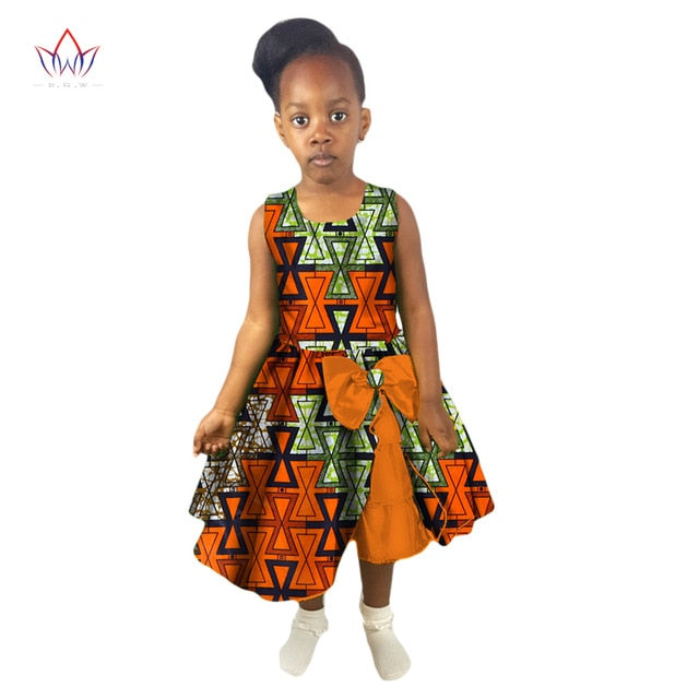 666e30b03712e Hover to zoom · New Fashion Summer Africa Children Clothing Dashiki Cute  Girls Dresses African ...