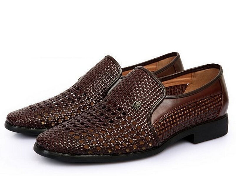 9ee16f1b6984c New Mens Dress Formal Summer Sandal Woven Leather Cose Toe Casual Shoes 3  Colors