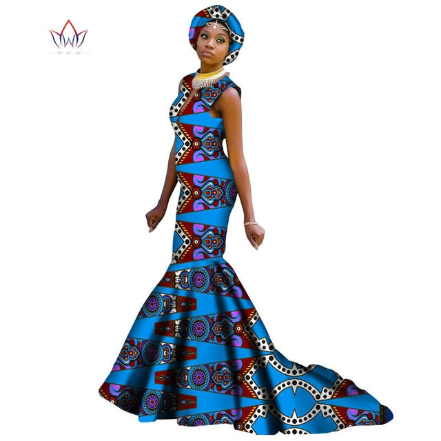 New Style 2018 African Dresses For Women Dashiki Sleeveless African Clothes For Girl Sweet Traditional Dress For Party Wy3538