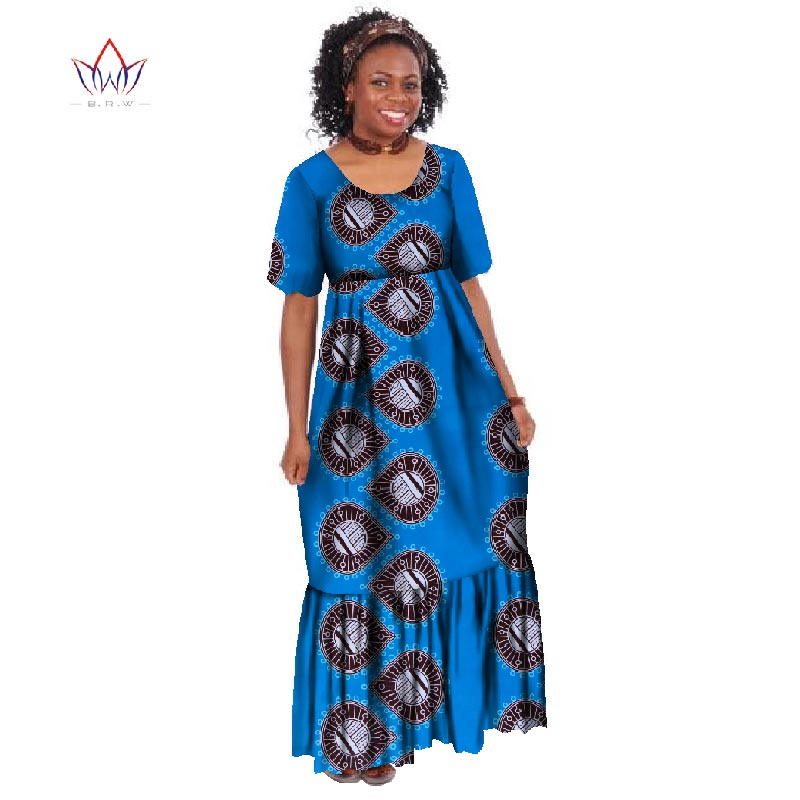 0965214762a47 New Summer 2018 Robe Africaine Femme African Clothing For Women Bazin Rich  Plus Size Long Dress African Wax Print Dresses WY255