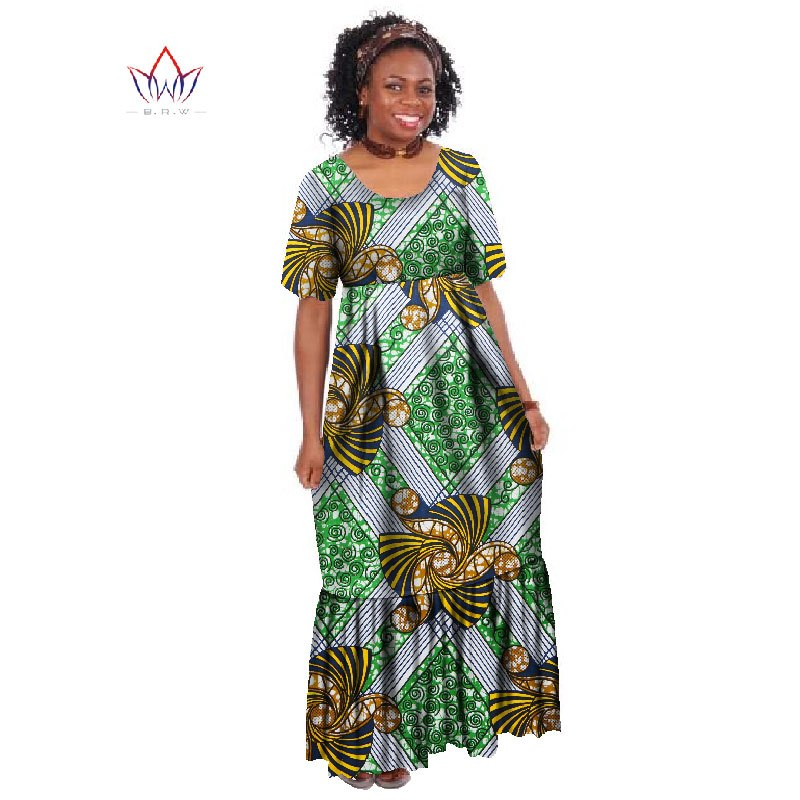 74a8f5a492 ... New Summer 2018 Robe Africaine Femme African Clothing For Women Bazin  Rich Plus Size Long Dress ...