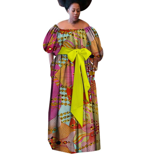 843b43bf1adf5 New Summer 2019 Robe Africaine Femme African Clothing For Women Bazin Rich  Plus Size Long Dress African Wax Print Dresses WY3087