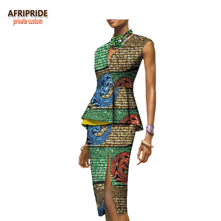 New African Style Party Dress For Women Sexy Lady Two Piece Suit