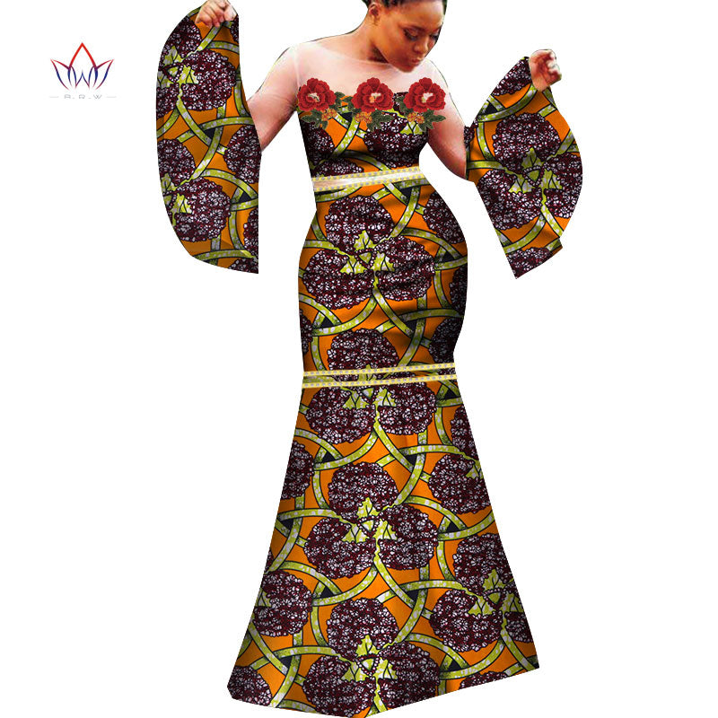 1b13227c08c5 ... New fashion African women s dress sexy African dress white gauze and  cotton product dewax clothing slim ...