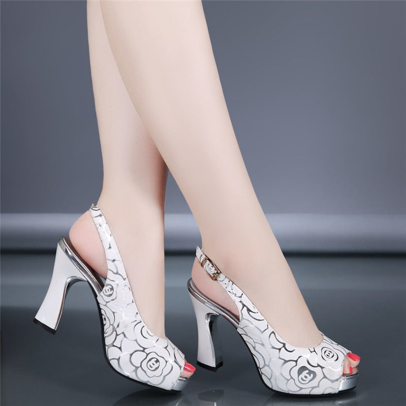 86613fe33c9 New women fashion pumps high heel office lady causal shoes for summer  buckle strap black female ...