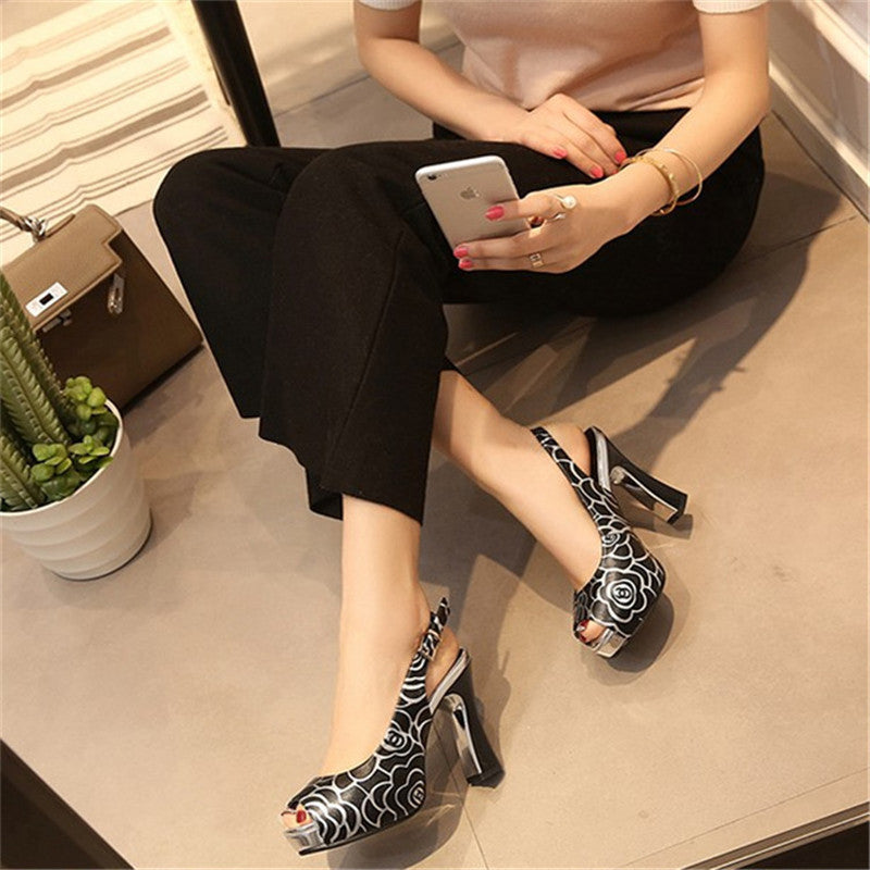 8291fe6937b ... New women fashion pumps high heel office lady causal shoes for summer  buckle strap black female ...