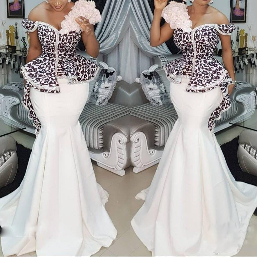 6d42759a1d243 Nigerian Evening Dresses Mermaid Long Elegant abendkleider Evening Gowns  Pleat Lace Ruffles Robe De Soiree abiye robe longue