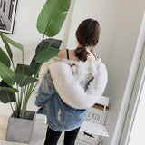 OFTBUY 2018 Denim Parka Winter Jacket Women Real Fur Coat Natural Raccoon Fur Collar Real Thick Warm Fox Fur Liner Outerwear New 1