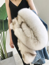 OFTBUY 2018 Denim Parka Winter Jacket Women Real Fur Coat Natural Raccoon Fur Collar Real Thick Warm Fox Fur Liner Outerwear New