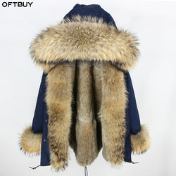 OFTBUY 2018 Long Parka Winter Jacket Women Parkas Real Fur Coat Natural Raccoon Fur Hood Real Rabbit Fur Liner Luxury Streetwear 1