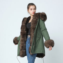 OFTBUY brand 2018 new long Camouflage winter jacket women outwear thick parkas natural real fox fur collar coat hooded pelliccia 1