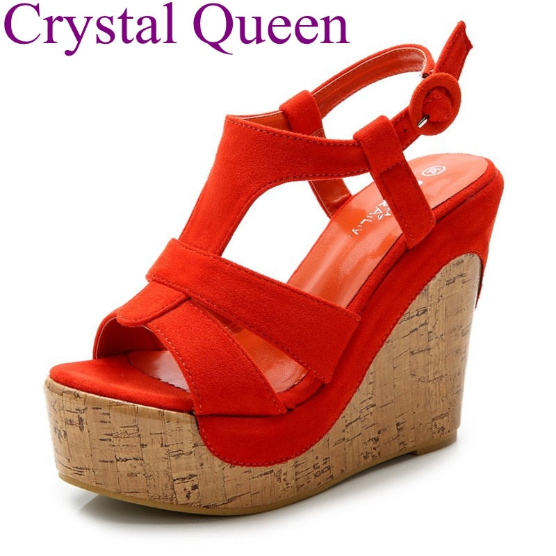 af64922ccc2899 Platform sandals wedges shoes for women platform high heel sandals women  T-strap Bohemia sweet ...