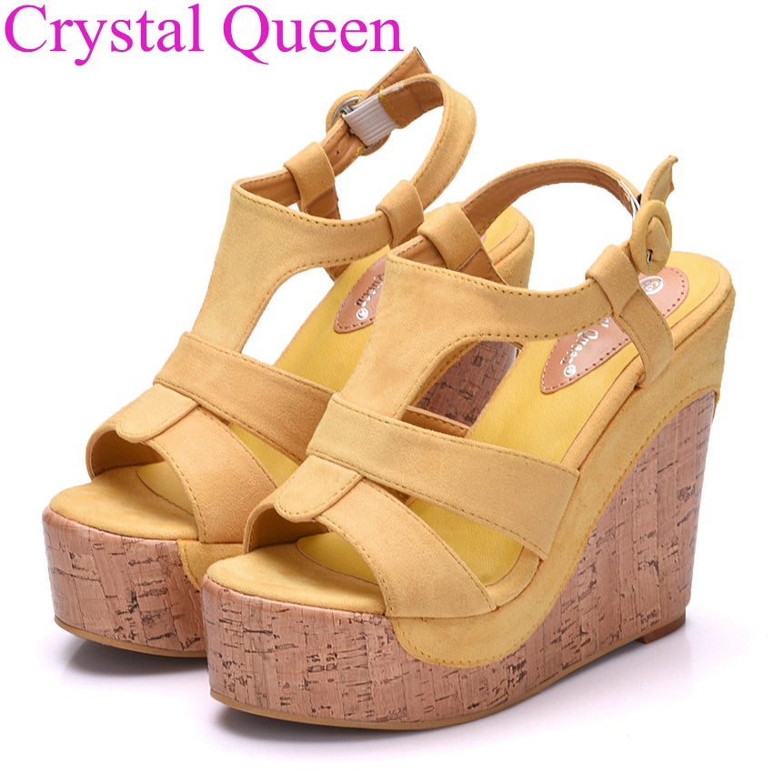 e05eef3cc96d3c ... Platform sandals wedges shoes for women platform high heel sandals women  T-strap Bohemia sweet ...